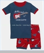 Hatley, Electric Guitars Sound Sleeper Appliqued Short Pajama Set (c)