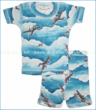 Thingamajiggies 4 Kids, Planes Short Pajama Set (c)