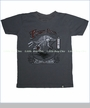 Last American Brand, Fossil Tee in Charcoal (c)