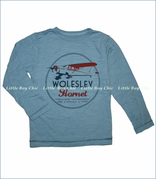 Little Traveler, Wolesley Slub Tee in Blue (c)