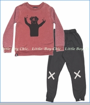 Mini & Maximus, Thumbs Up Sweat Shirt with No Falling Knit Pants