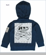 Monster Republic, Dino Skull Hooded Sweater in Navy (c)