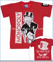 Monster Republic, Monopoly Big Deal Tee in Red