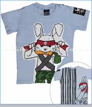 Monster Republic, Rambo Bunny Tee in Blue