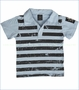 Monster Republic, Surf Shack Stripe Polo in Blue (c)