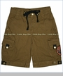 Monster Republic, Twill Cargo Shorts in Sand (c)