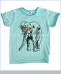 Nano, Elephant Pin Stripe Tee in Ocean Blue (c)