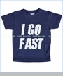 Pluto, I Go Fast Tee in Heather Indigo (c)