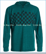 Quiksilver, Checker Hooded Pullover in Bayou Heather