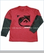 Quiksilver, Newman 2fer Tee in Revolution Red (c)