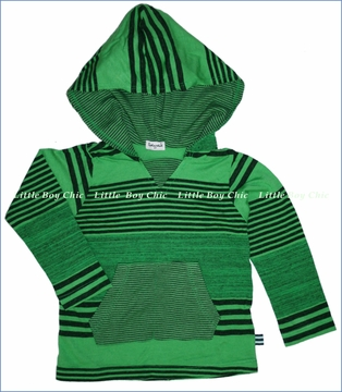 Splendid, Vintage Stripe Hooded Tee in Lawn (c)