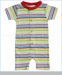 Sweet Peanut, Adventure Stripe Organic Short Peanut Suit (c)