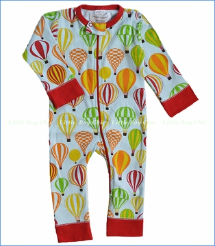 Sweet Peanut, Balloon Safari Organic Long Peanut Suit (c)