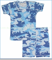 Thingamajiggies 4 Kids, Blue Camo Short Pajama Set