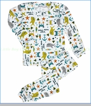 Thingamajiggies 4 Kids, Crabs & Sharks Pajama in White