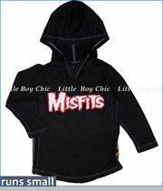 Trunk, Misfits Logo Hooded Tee in Charcoal