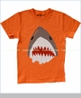 Wes and Willy, Shark Tee in Bright Orange