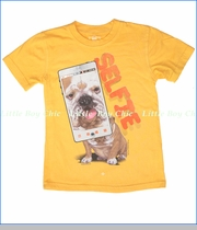 Wes & Willy, Dog Selfie Tee in Bold Gold