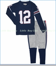 Wes & Willy, Football Pajamas in Navy