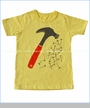 Winter Water Factory, Hammer Organic Tee in Yellow (c)