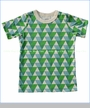 Winter Water Factory, Triangles Organic Tee in Blue and Green (c)