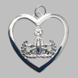 EOD Badge in Heart Necklace