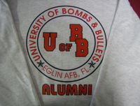 Sweatshirt- University of Bombs & Bullets Front only