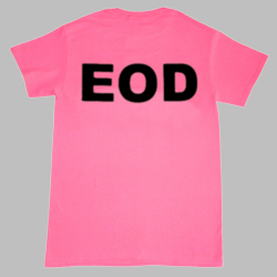 EOD Shirt Black on Pink