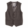 Appaman Charcoal Windowpane Vest