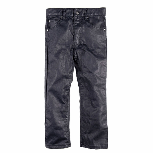 Appaman Coated Black Straight Leg Jeans