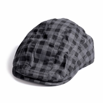Appaman Vintage Black Check Newsboy Cap
