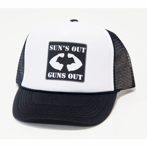Chibella Suns Out Guns Out Kids Trucker Hat