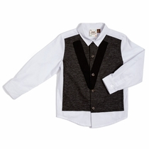 Fore!! by Axel & Hudson Knit Panel Dress Shirt