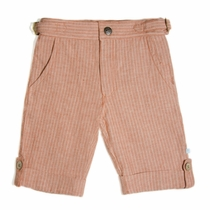 Fore!! by Axel & Hudson Orange Linen Stripe Shorts