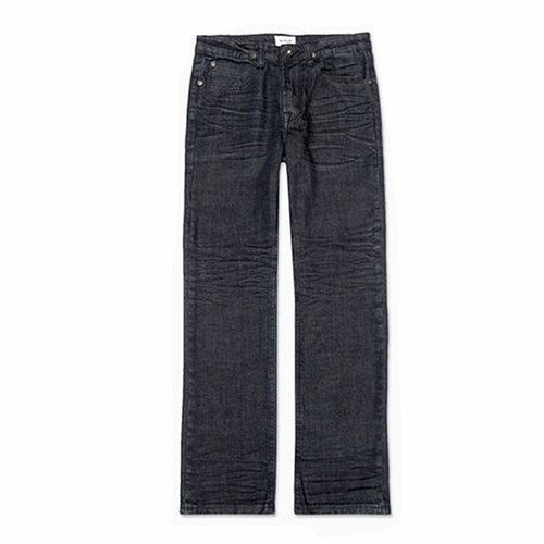 Hudson Raw Blue/Black Parker Straight Jeans