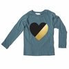 Joah Love Girls Jett Heart Long Sleeve Tee