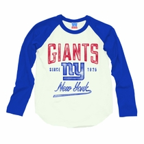 Junk Food New York Giants Long Sleeve Raglan