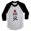 Little Dudes Only Mohawk Skull Raglan
