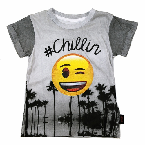 Little Eleven Paris #Chillin Emoji Tee