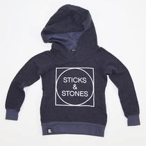 Mini & Maximus Sticks and Stones Hoodie