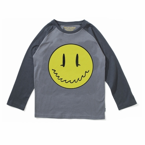 Mini Munster Smiley Surf Face Raglan