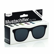 Mustachifier Black Polarized Kids Sunglasses