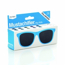 Mustachifier Blue Polarized Baby Sunglasses