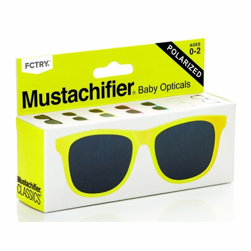 Mustachifier Yellow Polarized Baby & Kids Sunglasses