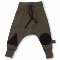 nununu Olive Baggy Patch Pant