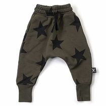 nununu Olive Star Baggy Pants