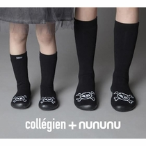 nununu + Collegien Knee High Skull Slipper Socks