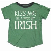 Rowdy Sprout Kiss Me I'm A Wee Bit Irish Tee