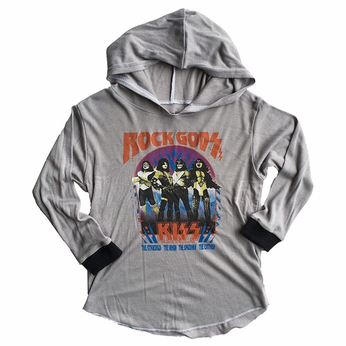 Rowdy Sprout Kiss Rock Gods Hooded Tee