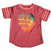 Rowdy Sprout We Will Rock You Varisty Tee